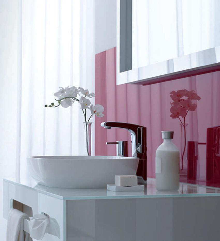 Glasrückwand für Bad und Küche, ESG farbig nach RAL